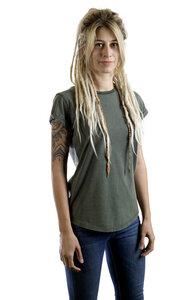 """Shirt aus Biobaumwolle Fairwear für Damen """"Basic"""" in Washed Green - Life-Tree"""