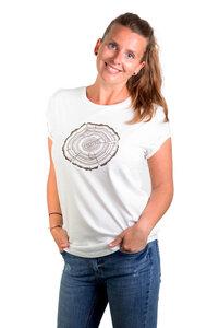 """Shirt aus Biobaumwolle Fairwear für Damen """"Treeslice"""" in Washed White - Life-Tree"""