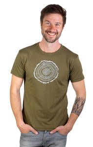 "Bambus Shirt Fairwear für Herren ""Treeslice"" in Moss Green - Life-Tree"