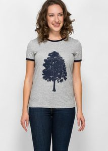 Retro-Shirt mit Baum - Green Size