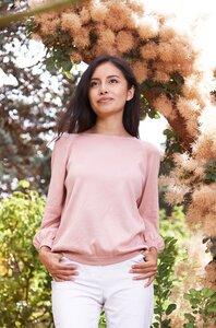 7/8-Pullover aus edelster Pima-Baumwolle aus Peru - AGUJAL - Apu Kuntur