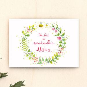 Postkarte // Wundervollste Mama - Anabell Stellmacher