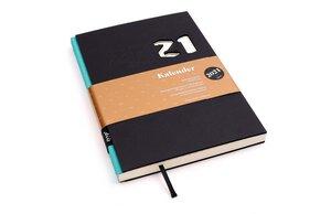 Kalender 2021 - Schwarz, DIN A5, Handmade - tyyp