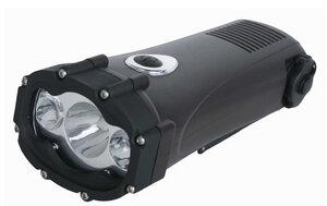 Shark Akku Leuchte mit Dynamofunktion und Handy Lademöglichkeit - Powerplus