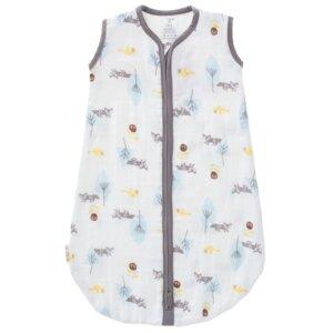 Fresk Baby Sommerschlafsack Design Fox blue  100 % kbA Baumwolle - Fresk Niederlande