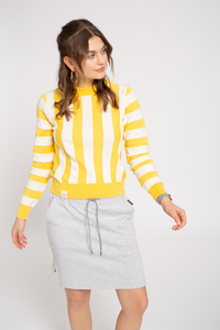 Knit Crew Neck #STRIPED  - recolution