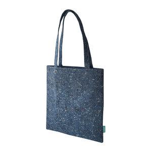 Recycelter Filz Shopper / Einkaufstasche  blau - SuperWaste