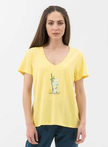 T-Shirt aus Bio-Baumwolle mit V-Ausschnitt - ORGANICATION