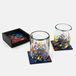 Untersetzer mit Mosaik bunt 4er-Set - Mitienda Shop