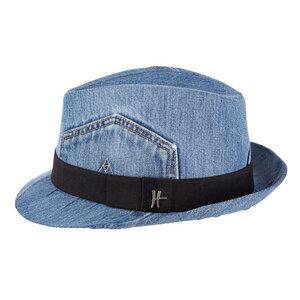 "Trilby-Hut ""Mary Lou"" aus Jeans - blau - ReHats Berlin"