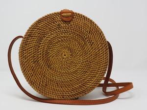 """Handtasche aus Rattan """"Bali Bag"""" rund in natur und schwarz - Fair Together"""