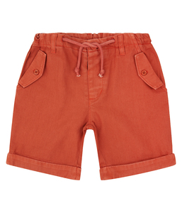 Kinder Shorts Rost Orange Bio Baumwolle - sense-organics