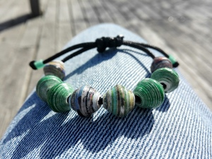 Perlenarmband STAY GREEN - PEARLS OF AFRICA