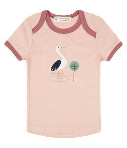 Baby T-Shirt Hellblau Möwen oder Rosa Storch Biologisch - sense-organics