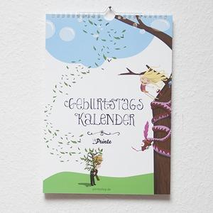 Geburtstagskalender l Wandkalender - Printe