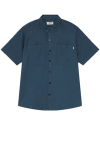 Blue Hemp Shirt  - thinking mu