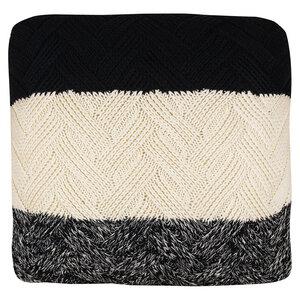 Kissenbezug aus Strick, quadratisch, Biobaumwolle, GOTS-zertifiziert, 50 x 50 cm - TRANQUILLO