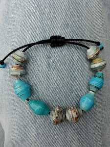 Perlenarmband STAY BLUE - PEARLS OF AFRICA