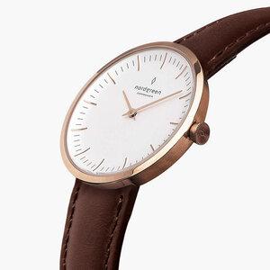 Armbanduhr Infinity Roségold - Italienisches Lederarmband - Nordgreen Copenhagen