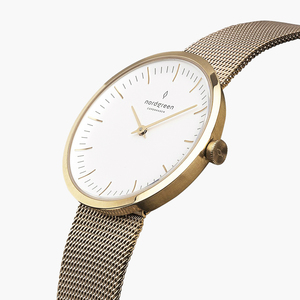 Armbanduhr Infinity Gold - Mesharmband Gold - Nordgreen Copenhagen