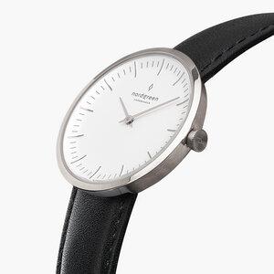 Armbanduhr InfinitySilber - Italienisches Lederarmband - Nordgreen Copenhagen