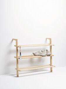 SCHUHREGAL GASTON / Shoe Rack / Esche massiv  German Design - Side by Side