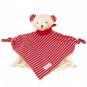 Käthe Kruse - Schmusetuch Bär rot-weiß, kbA - Käthe Kruse