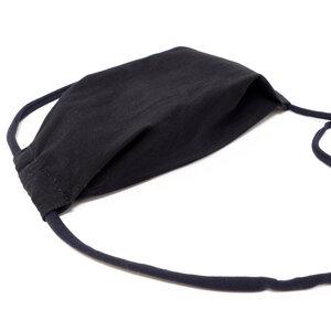 Gesichtsmaske Schwarz - aus nachhaltiger Baumwolle - anna dezet