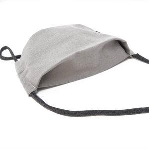 Gesichtsmaske Grau - aus nachhaltiger Baumwolle - anna dezet