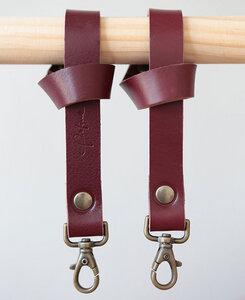 pikfine Leder Taschenhalterung für Kinderwagen & Buggy // 3 Farben - pikfine