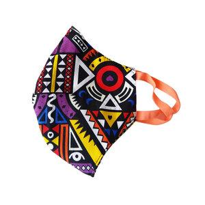 Mund und Nasenmaske für Erwachsene. Handmade in Kenya. V.1 - Kipepeo-Clothing