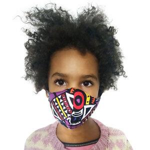 Mund und Nasenmaske für Kinder +6 Jahre. Handmade in Kenya. V.1 - Kipepeo-Clothing