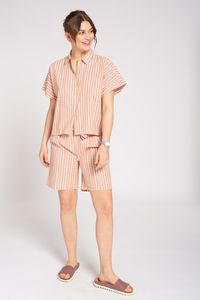 Leinen Blouse #STRIPES - recolution