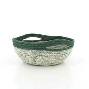 Brotkorb Bowl aus Jute grün - Mitienda Shop