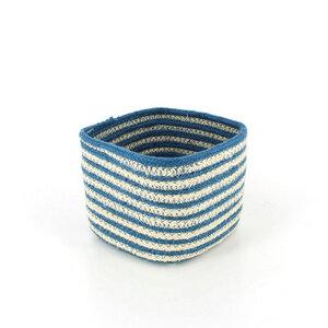 Korb Bowl blau aus Jute  - Mitienda Shop