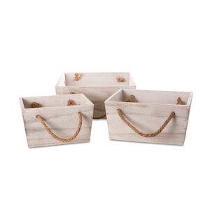 Holzkiste Set, Dekokiste aus Holz mit Henkel - Mitienda Shop