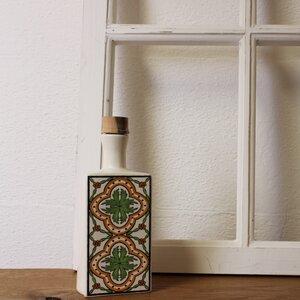 Keramik Flasche weiß, Ölflasche - Mitienda Shop
