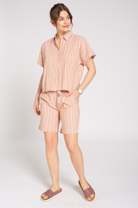 Leinen Shorts #STRIPES - recolution