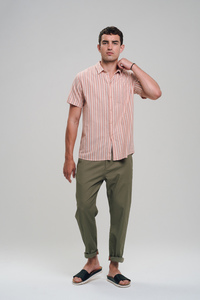 Leinen Shortsleeve Shirt #STRIPES - recolution