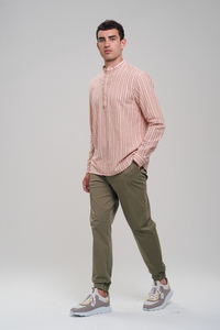 Leinen Japanese Shirt #STRIPES - recolution
