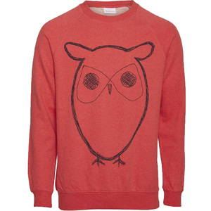 Herren Sweat-Shirt Big Owl - KnowledgeCotton Apparel