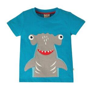 Frugi T-Shirt shark blue Applikation  - Frugi