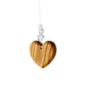 Fensterdeko Herz mit 3 Perlen, Mobile - Mitienda Shop