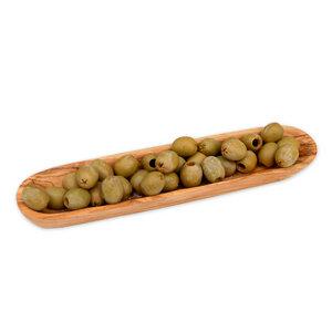 Schale (L25 cm) aus Olivenholz für Tapas - Olivenholz erleben