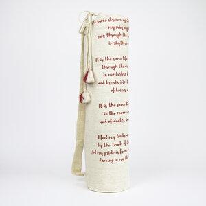 Yogatasche mit inspirierendes Gedicht aus handgewebter Baumwolle - Sukham