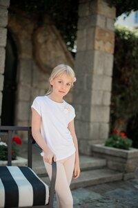 Bambus T-shirt Bonita in Weiß - Peter Jo Kids