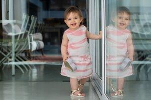 Bio Musselin Baumwolle Hemd Felicity Peach - Peter Jo Kids