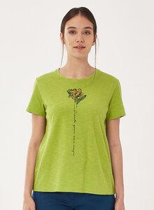 T-Shirt aus Bio-Baumwolle mit Blume-Print - ORGANICATION