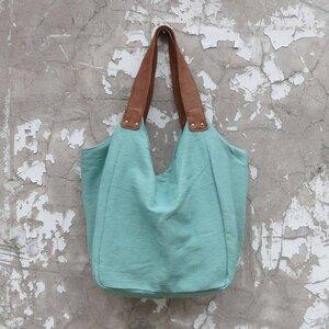Trendige Umhängetasche aus Baumwolle mit Schulterriemen aus Kunstleder Hava-Tasche - mehrere Farben - AuraQue