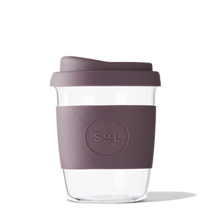 Coffee to go Becher aus mundgeblasenem Glas (8oz / 236ml) - SoL Cups